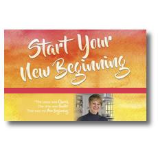 Big Invite New Beginning Jill Postcard