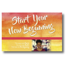 Big Invite New Beginning Jimmica Postcard