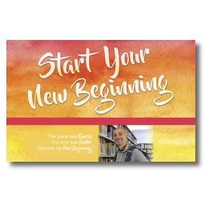 Big Invite New Beginning Ricardo Postcards