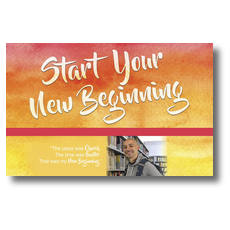 Big Invite New Beginning Ricardo Postcard