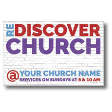 Brick Rediscover Church Postcard