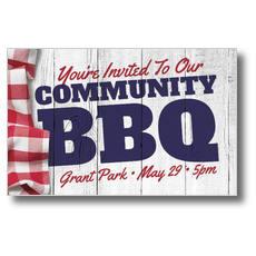 Community BBQ Postcard