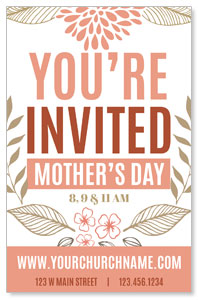 Flowers Invited Mothers Day 4/4 ImpactCards