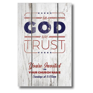 In God We Trust Wood 4/4 ImpactCards
