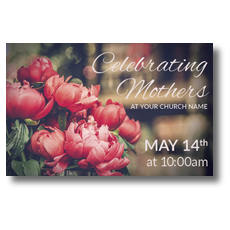 Mothers Day Peonies Postcard