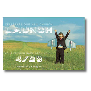 Rocket Kid Launch Postcards