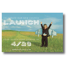 Rocket Kid Launch Postcard