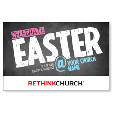 UMC Easter At Chalk Postcard