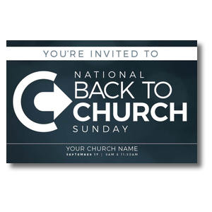 Back to Church Sunday Logo Postcards