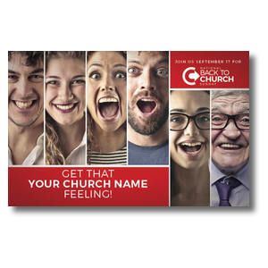 Back to Church Happy Faces 4/4 ImpactCards