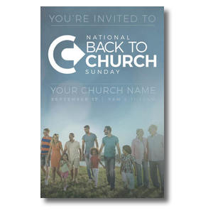 Back to Church Sunday People Postcards