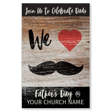 Fathers Day Mustache Postcard