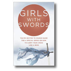 Girls With Swords Postcard