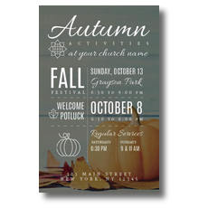 Autumn Activities Postcard