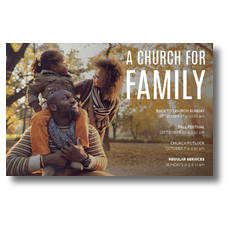 Church for Family Park Postcard