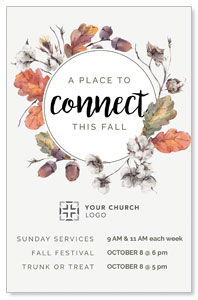 Connect Fall Wreath Postcards