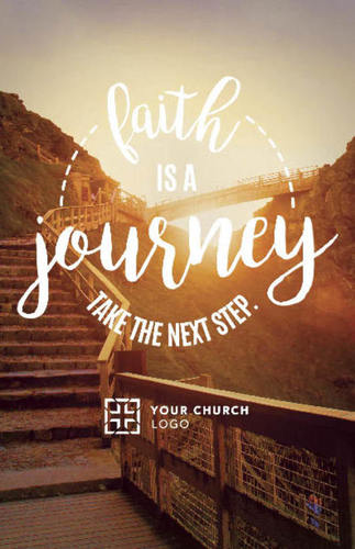 faith journey postcard - church postcards