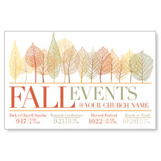 Fall Events Leaves Postcard