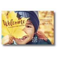 Leaf Kid Postcard