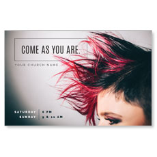 Mohawk Hair Postcard
