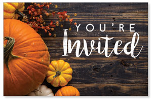 Pumpkins Youre Invited ImpactCards