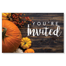 Pumpkins Youre Invited Postcard