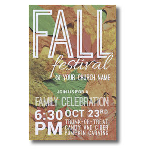 Fall Festival Leaves Postcards