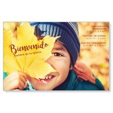 Leaf Kid Spanish Postcard