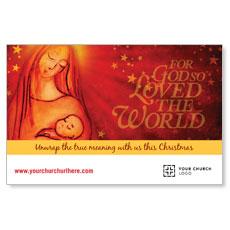 UMC Christmas Mary and Baby Postcard
