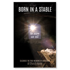 Born In A Stable Postcard