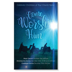 Come Worship Him Postcard