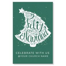Feliz Navidad Tree Spanish Postcard