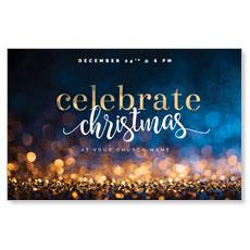 Glitter Sparkle Christmas Postcard