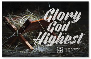 Glory God Manger Postcards