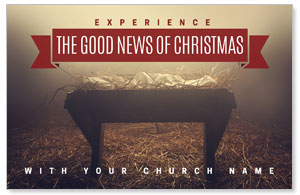 Good News Manger Postcards
