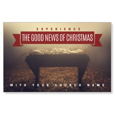Good News Manger Postcard
