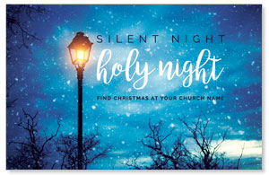 Holy Night Lamp Post Postcards