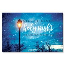 Holy Night Lamp Post Postcard