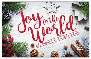 Joy To The World Snow Postcards
