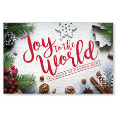 Joy To The World Snow Postcard