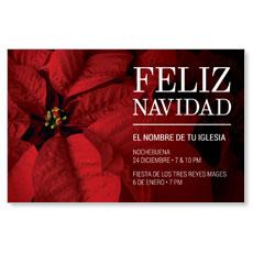 Navidad Poinsettia Spanish Postcard