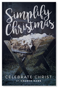 Simplify Christmas Manger 4/4 ImpactCards