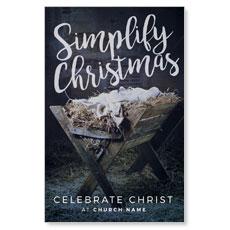 Simplify Christmas Manger Postcard