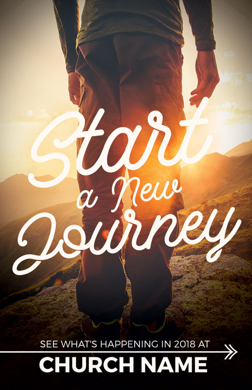 start new journey postcard - church postcards