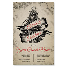 Vintage Sheet Music Postcard