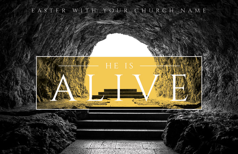 Alive Empty Tomb Postcard Church Postcards Outreach