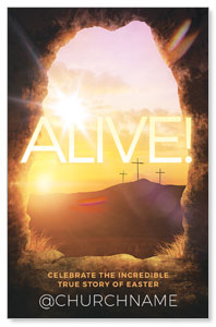 Alive Sunrise Tomb Postcards
