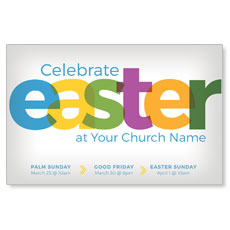 Color Bold Easter Postcard