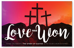Crosses Love Has Won Postcards