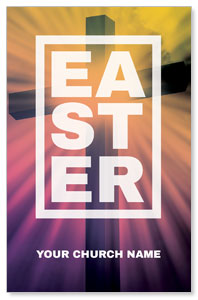 Easter Bold Cross Postcards